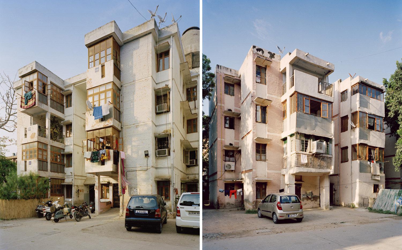 (L) DIZ Area, RK Ashram Marg.   (R) Type 2, Lodhi Complex.