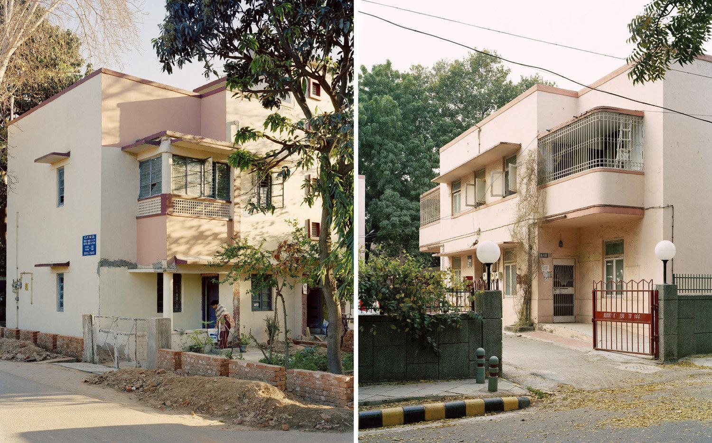 (L) Sector 12, RK Puram.   (R) RBI Quarters, Sarojini Nagar.