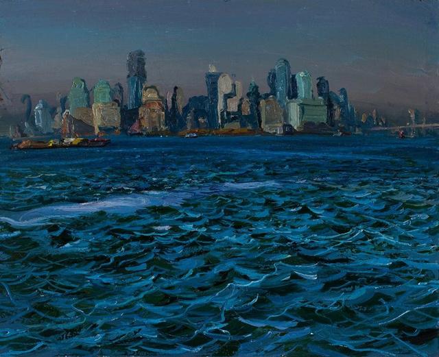 "Lower Manhattan- Morning    36 x 44"""