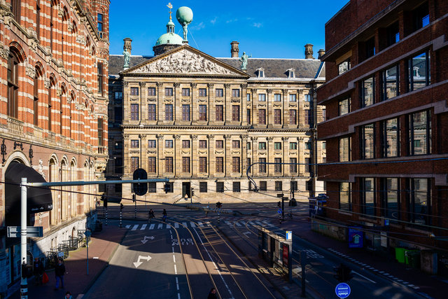 Raadhuisstraat Paleis op de Dam 25 maart 2020  15:37