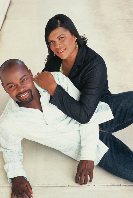 """COUPLE- HEANON TATE, NAKEESHA  Heanon has appeared in the tv show """"ARMY WIVES"""""""