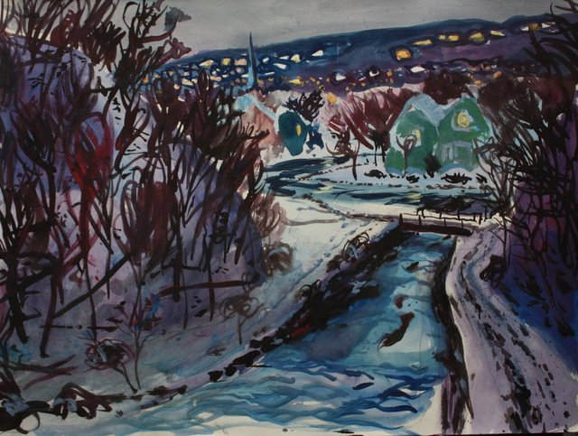 Ithaca Creek  22 x 29""