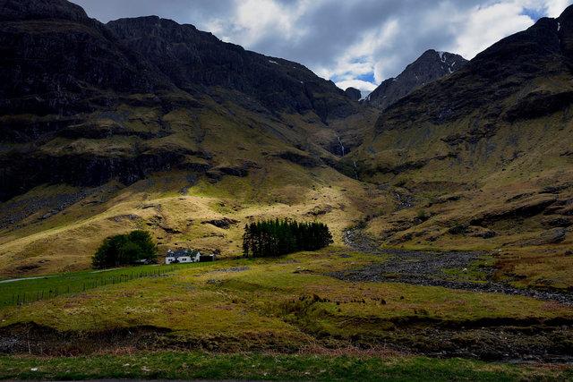 La maison de la vallée de Glen Etive, Highlands