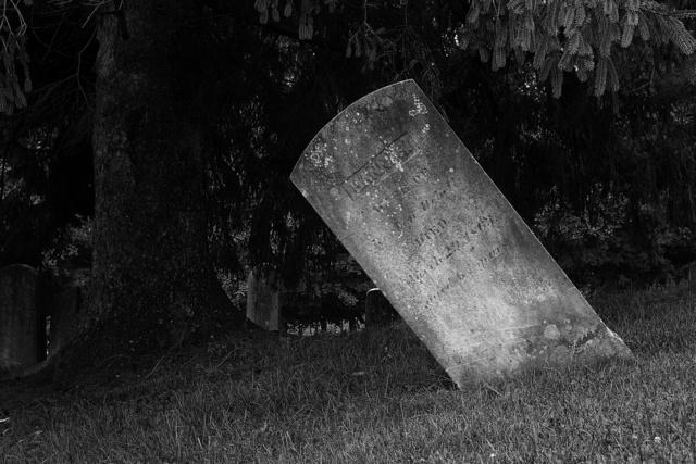 Tilting Gravestone
