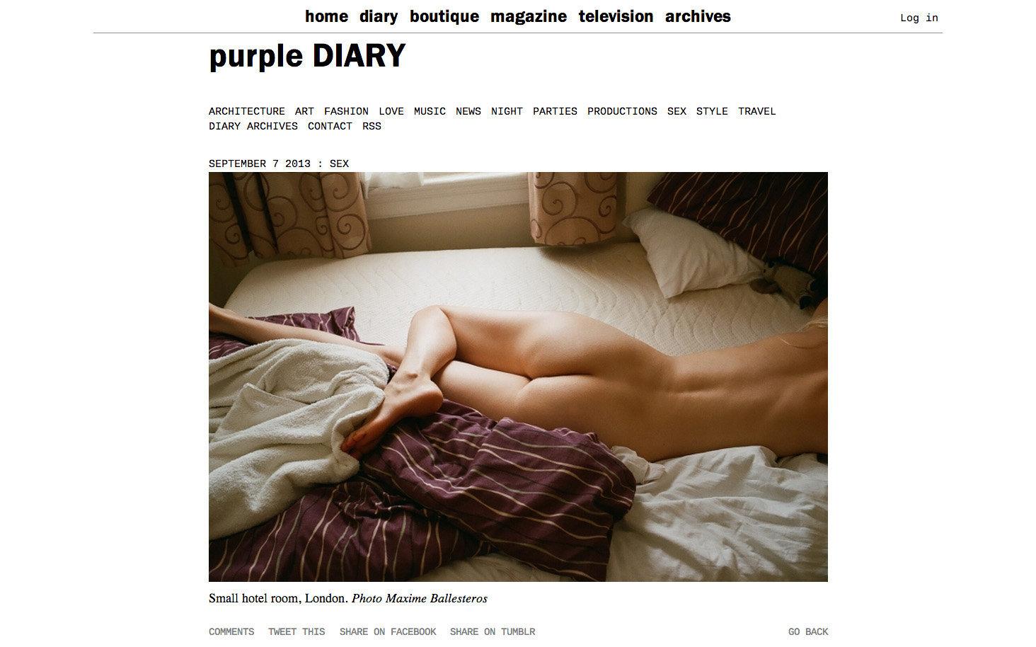 purple DIARY   Small hotel room  London. Photo Maxime.jpg