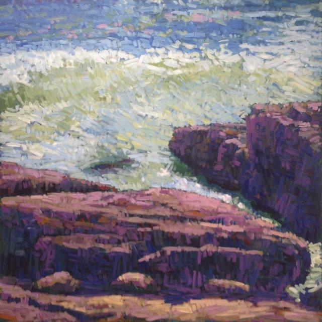 "Cannon Rock Wave, 2013, Acrylic on Canvas, 48"" x 48"""