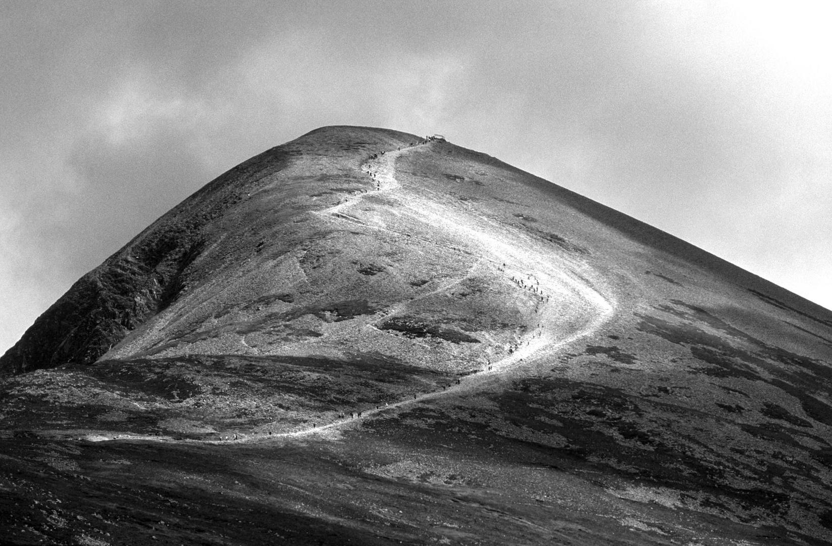 Croagh Patrick, la montagne sacrée des irlandais, 2003