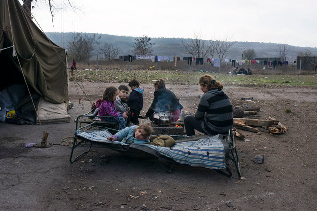 Refugees camp, Harmanli, Bulgaria