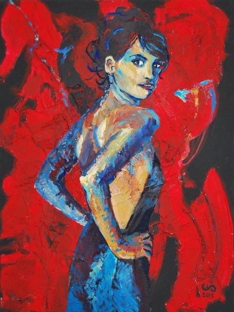 Dziewczyna z Alcobendas II 80x60 akryl płótno 2015