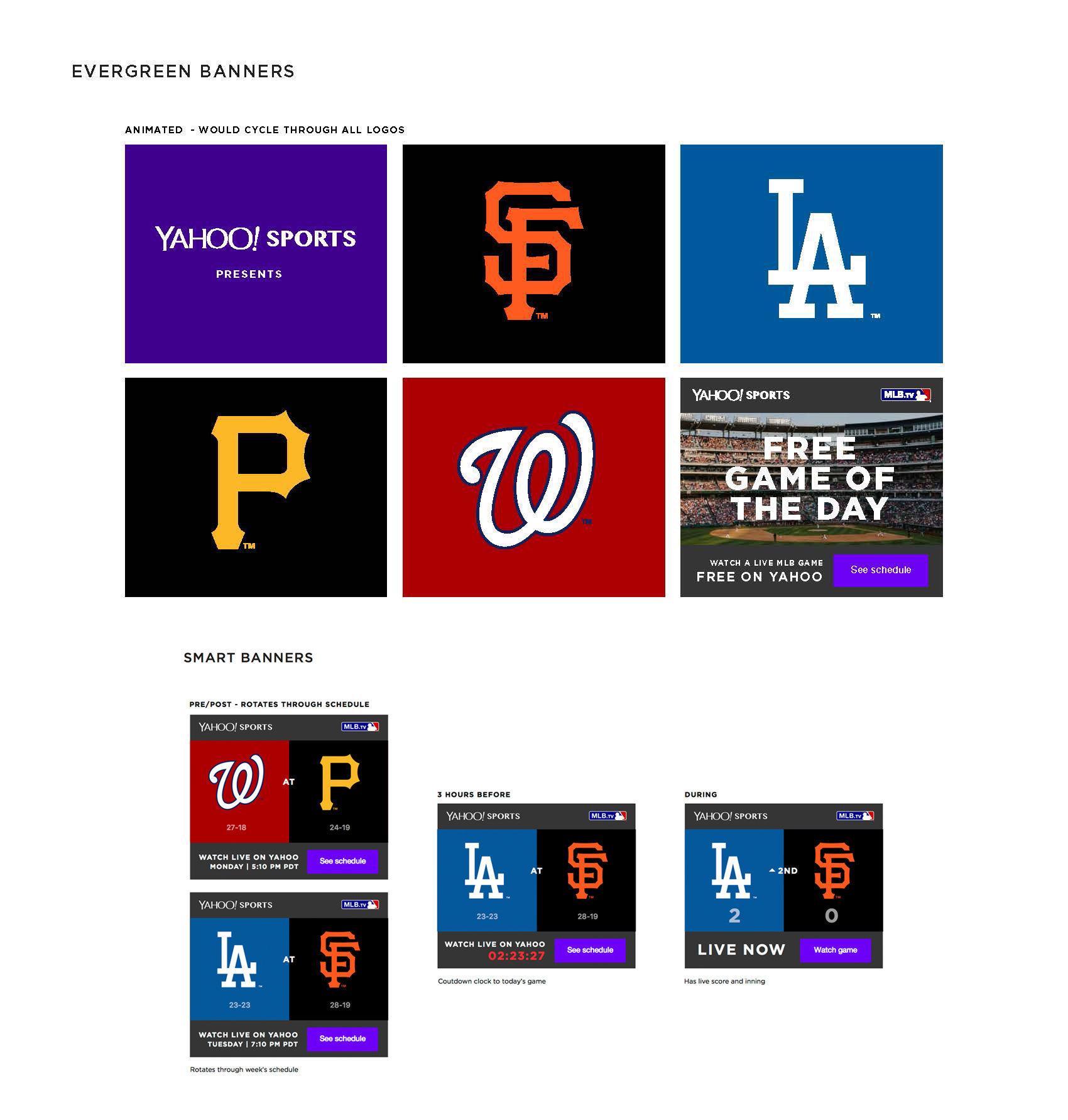 Yahoo! MLB GOTD / Banners