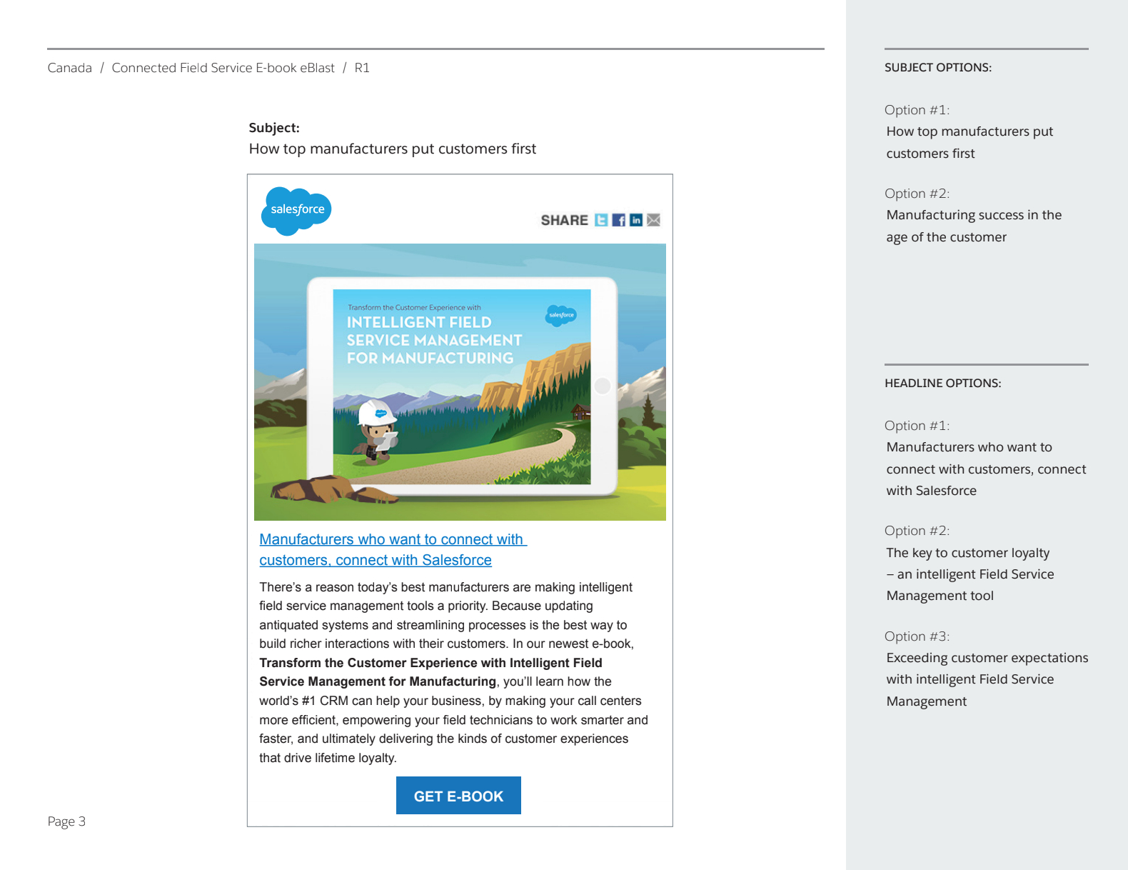Salesforce Canada Email Editorial