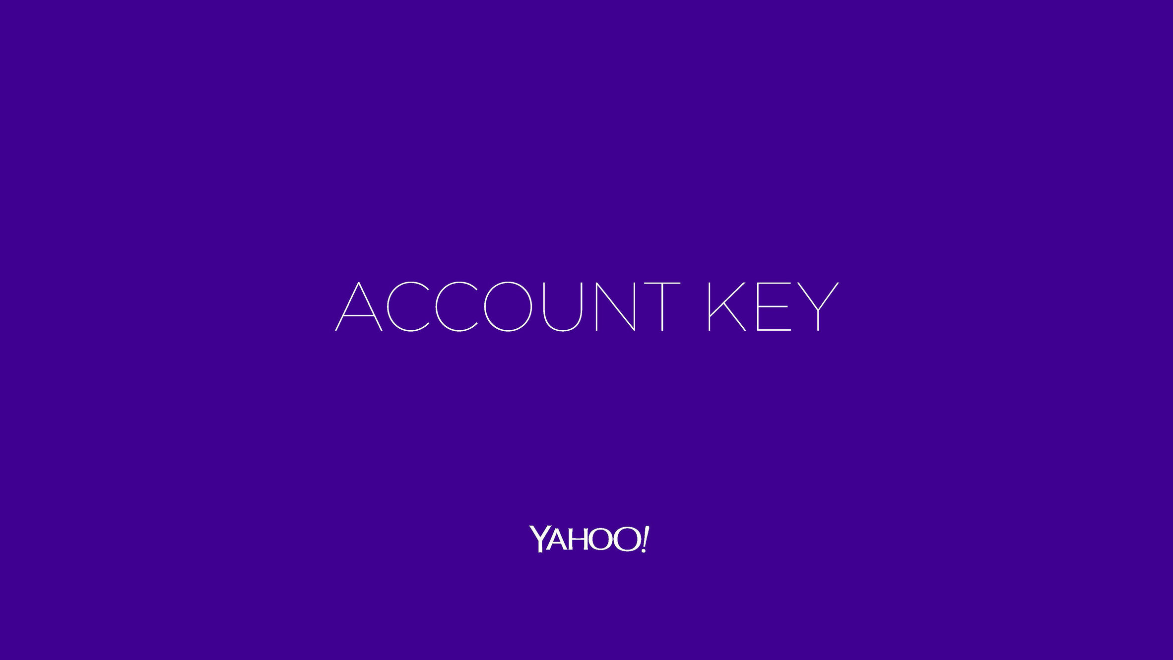 Yahoo! Account Key Campaign