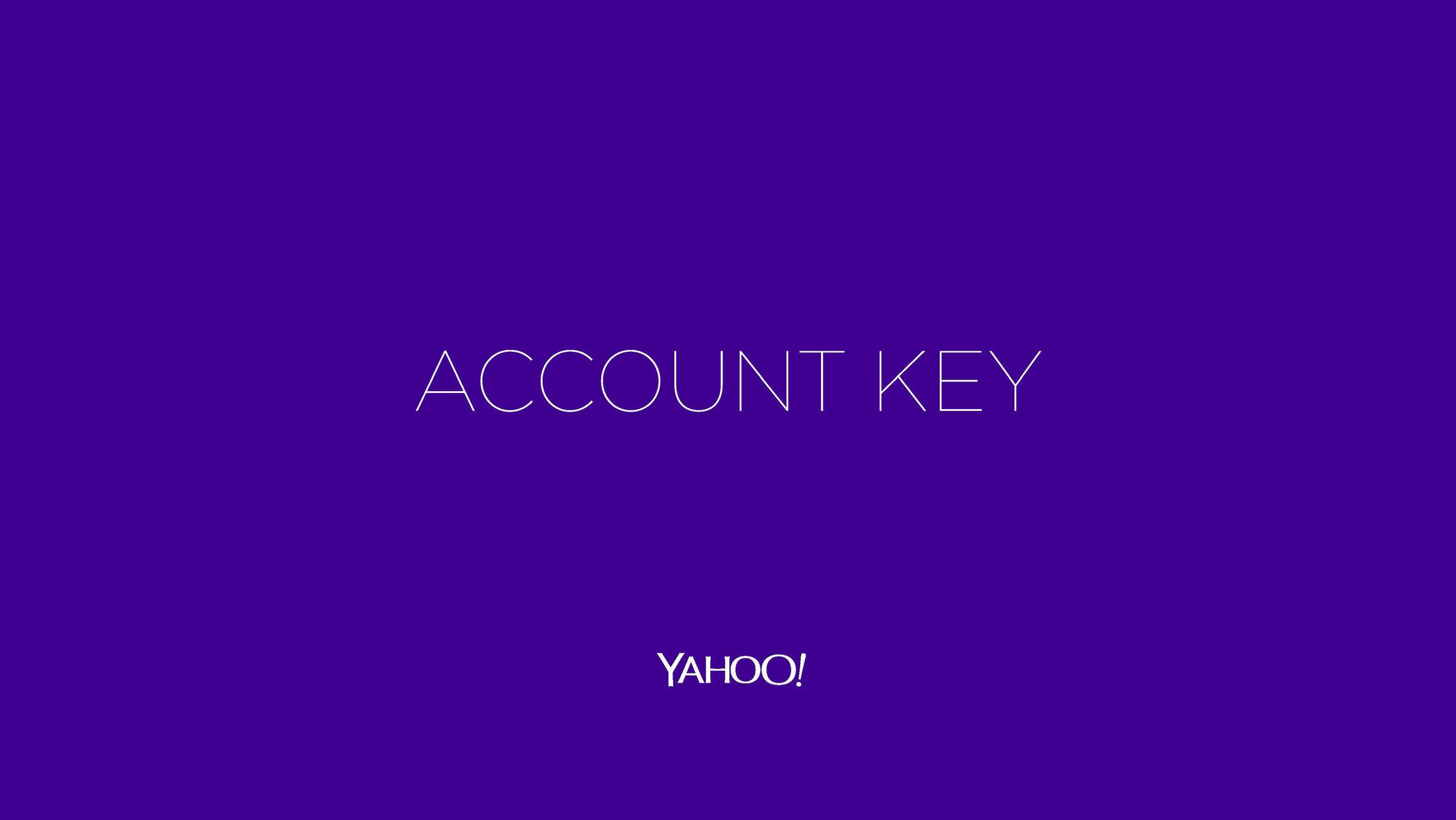Yahoo! Account Key Campaign