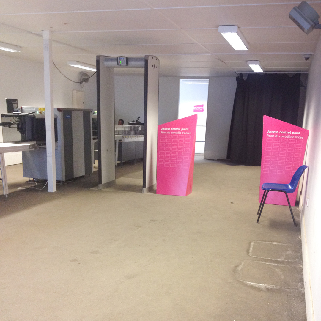 X-Ray screening area, Olympic Park, 2012