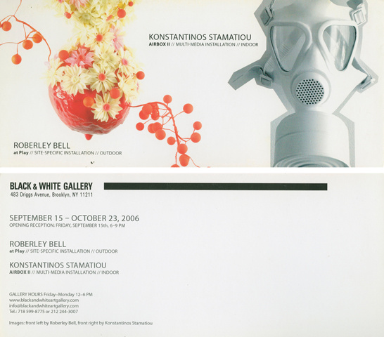 Black and White Gallery, invitation, 2006