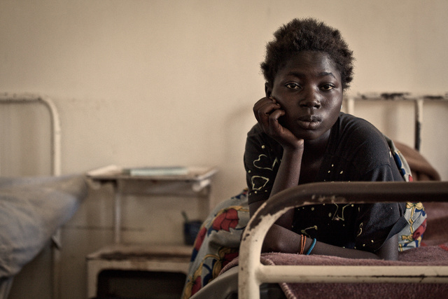 young mother in hospital  zambia