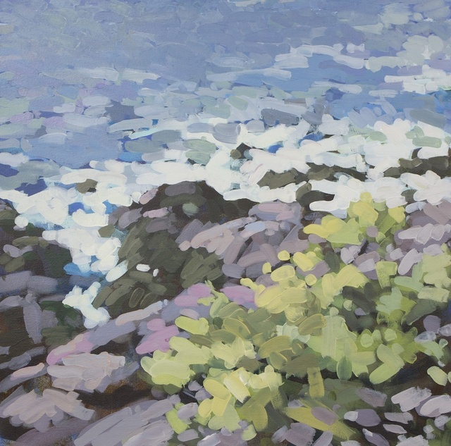 """Prouts Neck East Rocks, 2012 Acrylic on Canvas, 24"""" x 24"""""""