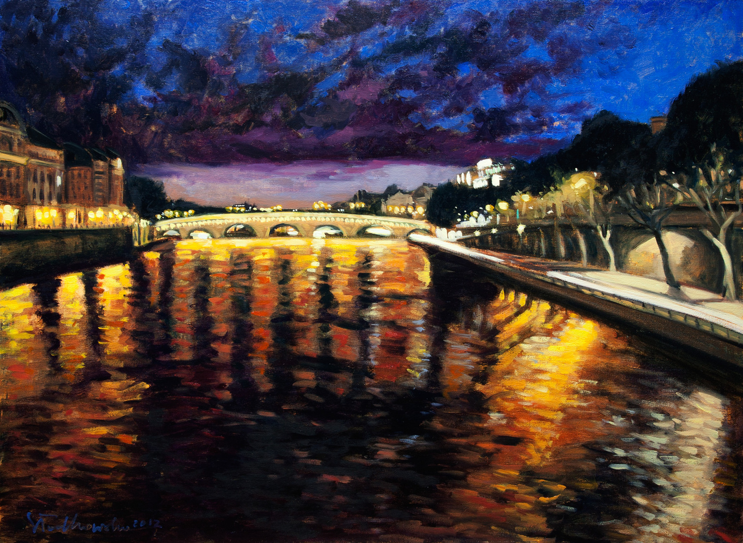 Midnight in Paris II, 100x73 olej płótno 2012