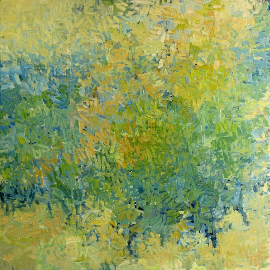 In Time the Orchard was Undone, 2015, Acrylic on Canvas, 72 x 72 in.