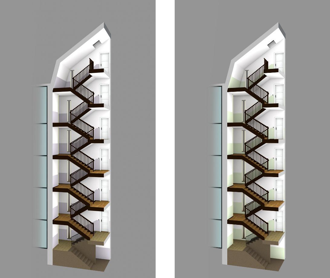 Treppenhausrenovierung | Farbvarianten