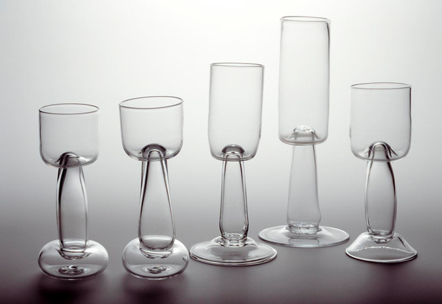 Five Prototype Wine Glasses