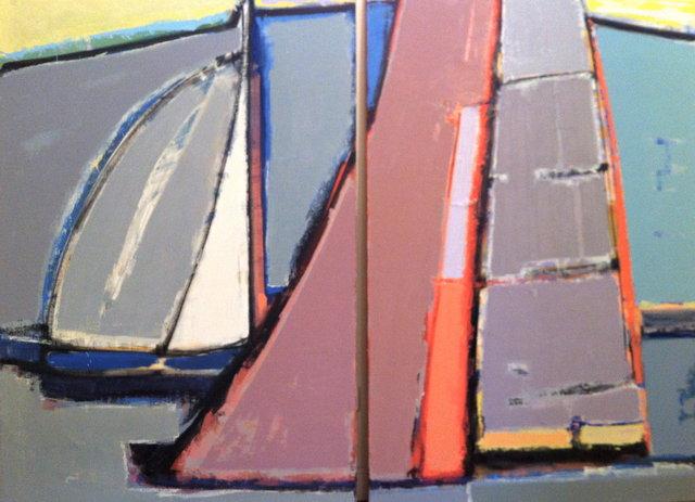 'Under sail. Regatta' ( diptych)