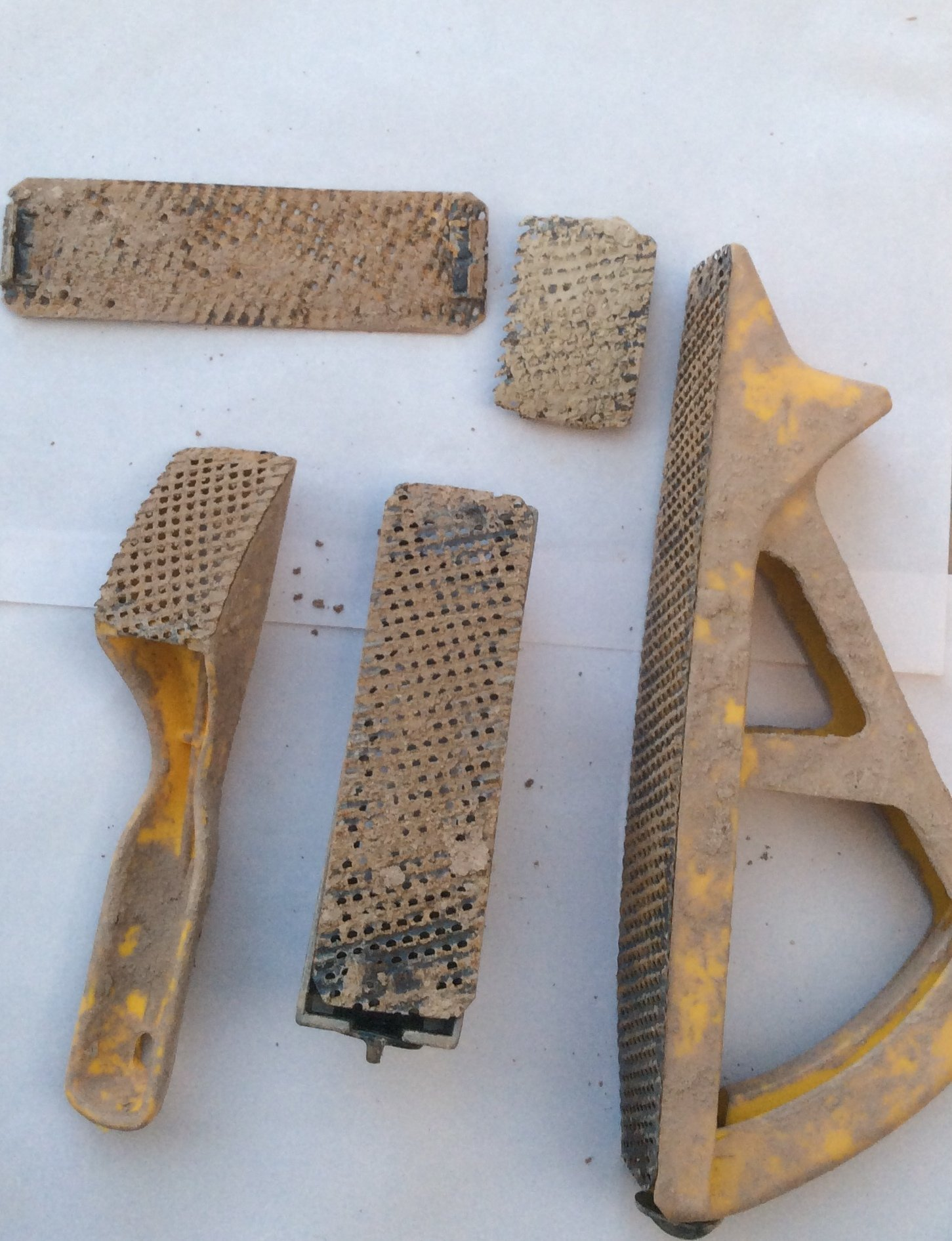 surforms (for rasping clay off larger surfaces