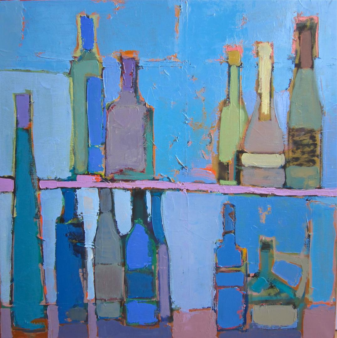 'Bottles silhouette'