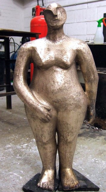 12. The sculpture is  then ready for patination