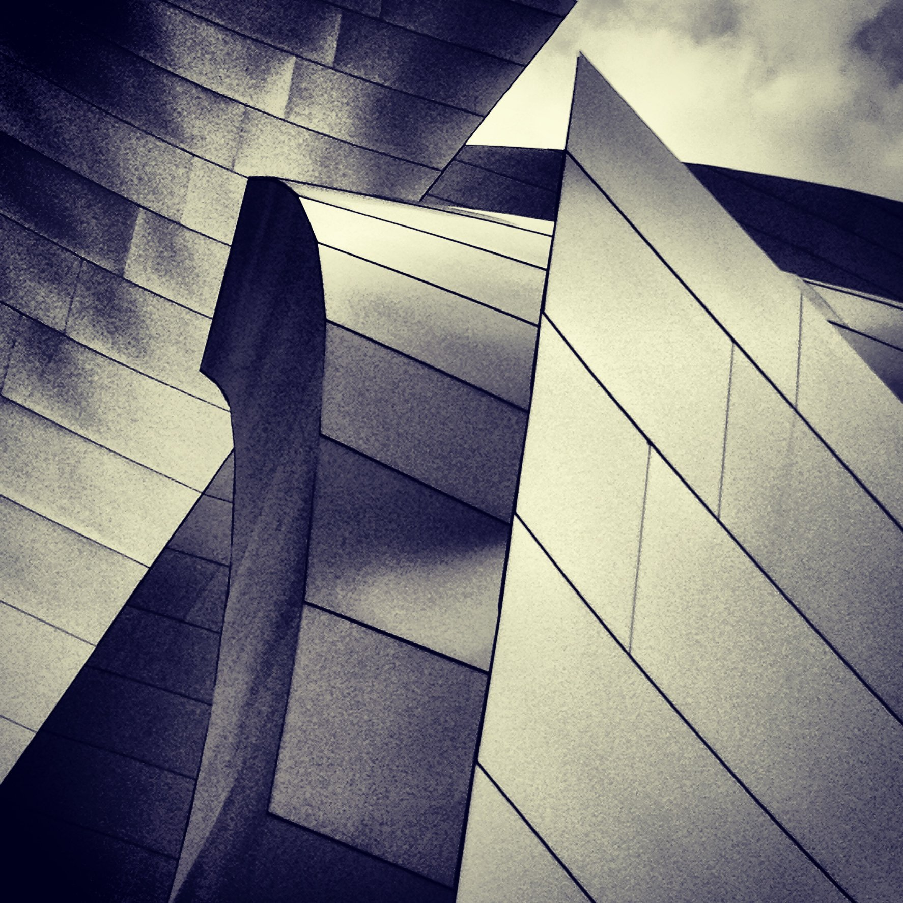 WALT DISNEY CONCERT HALL - B&W 1