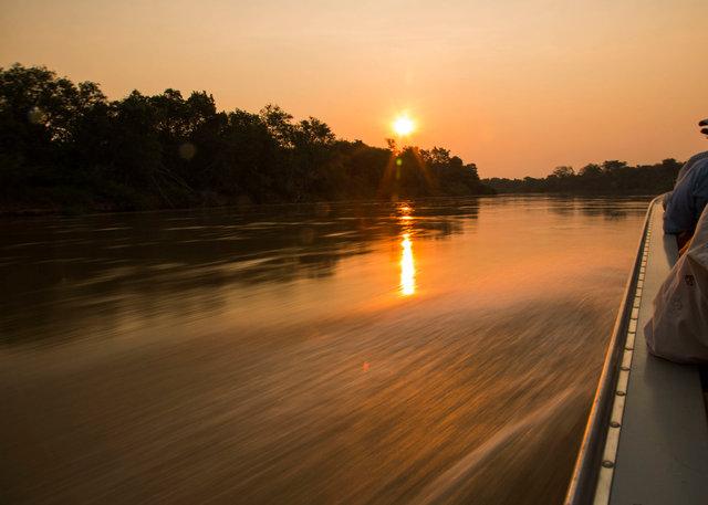 Cuiaba river at sunset