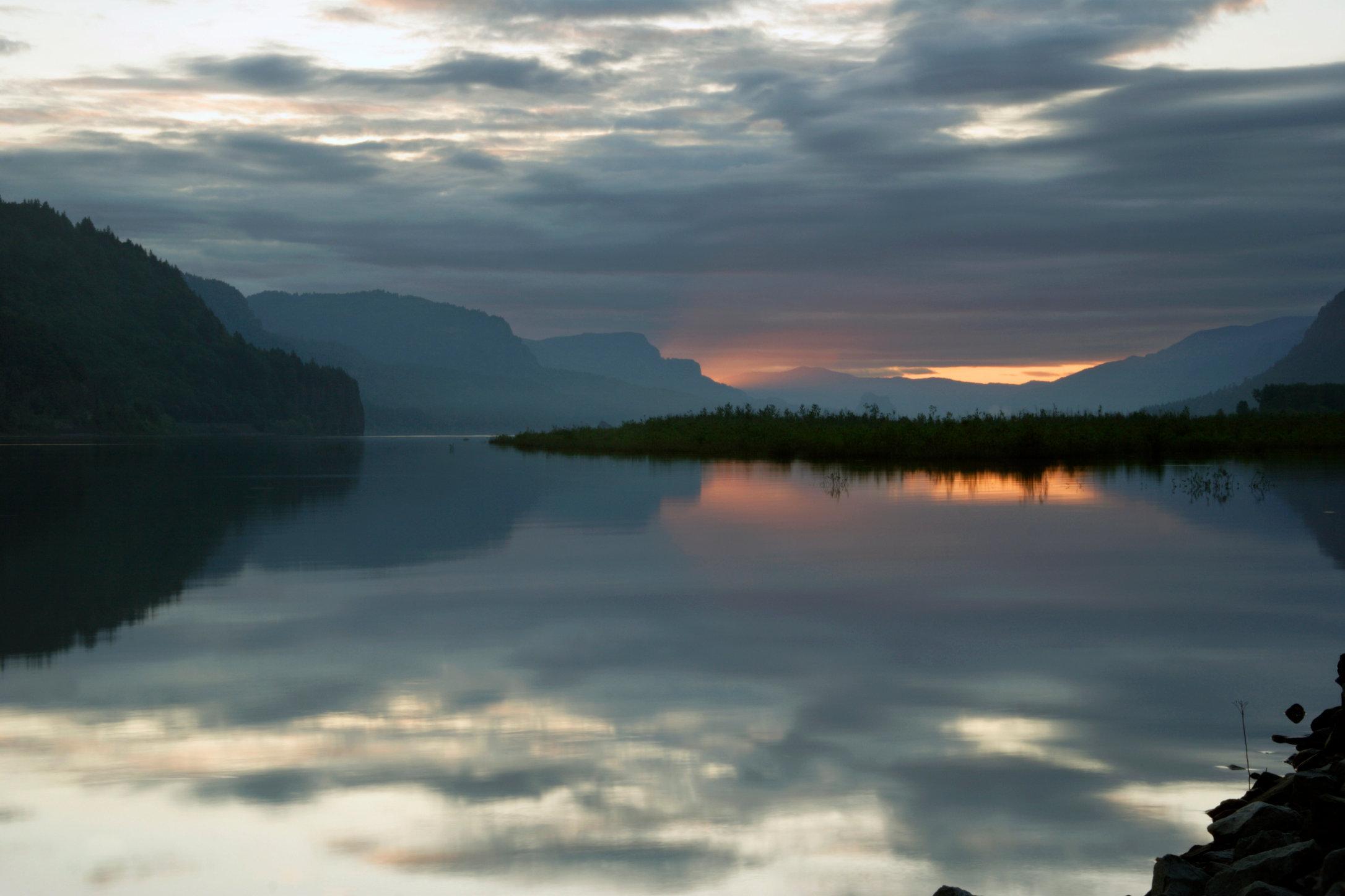 Sunrise, Columbia River Gorge, Oregon