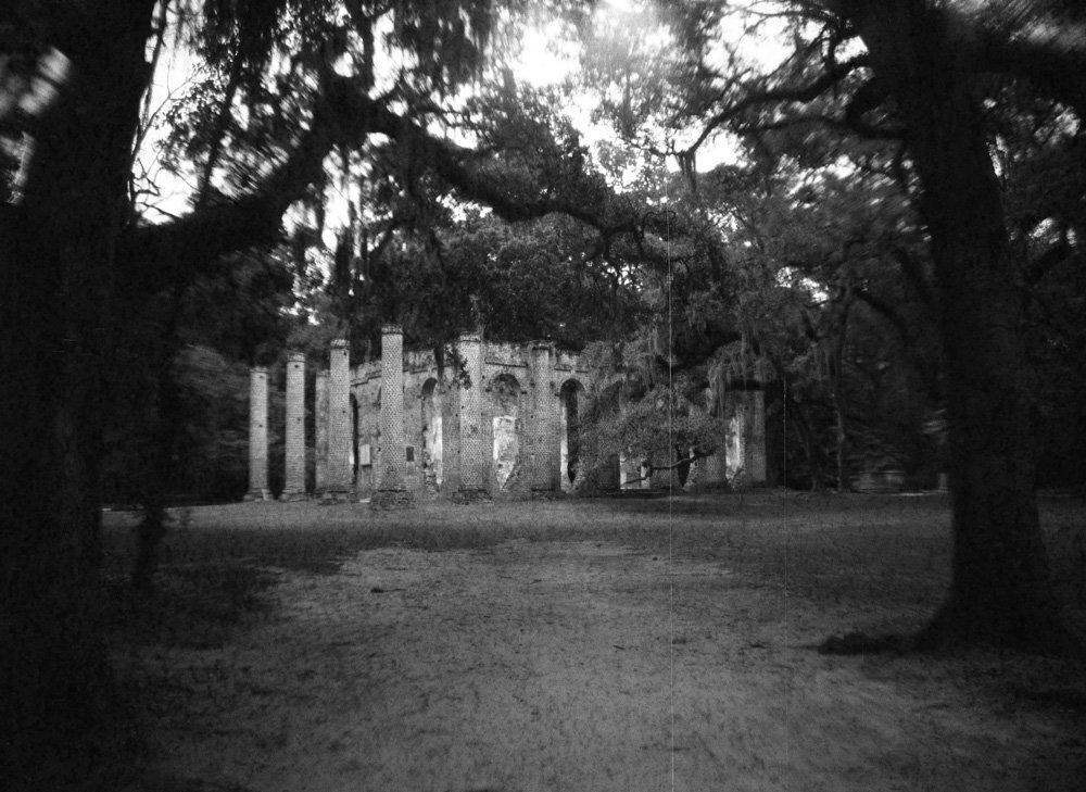 Sheldon Church ruins, South Carolina USA
