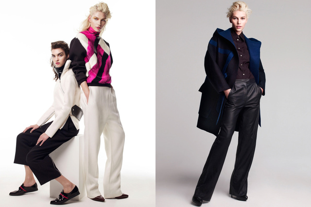 Vogue Australia. Aline Weber and Magda Laguinge. Smarty Pants, September 2012