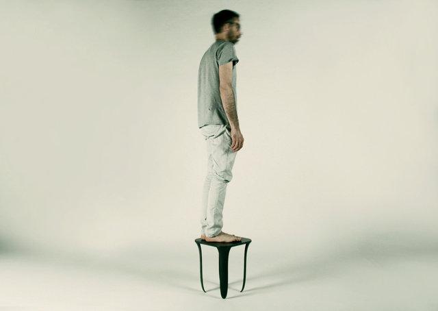 on tiptoes -, stool, 2013