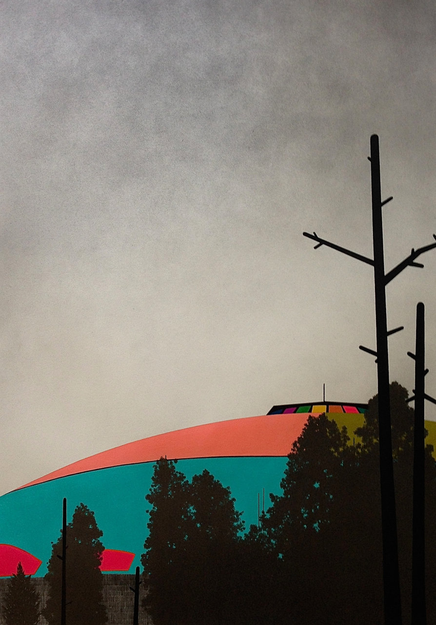 "NAU, 2014, gouache and graphite on paper, 32 x 24"""