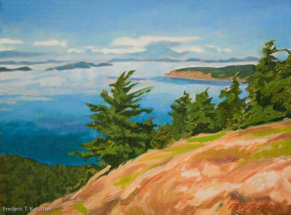 View North from Turtlehead (Orcas Island to Canada)-Study (16W  12H medium) 2010-6  (1).jpg
