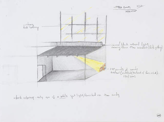 Installation drawing for the NSA Gallery