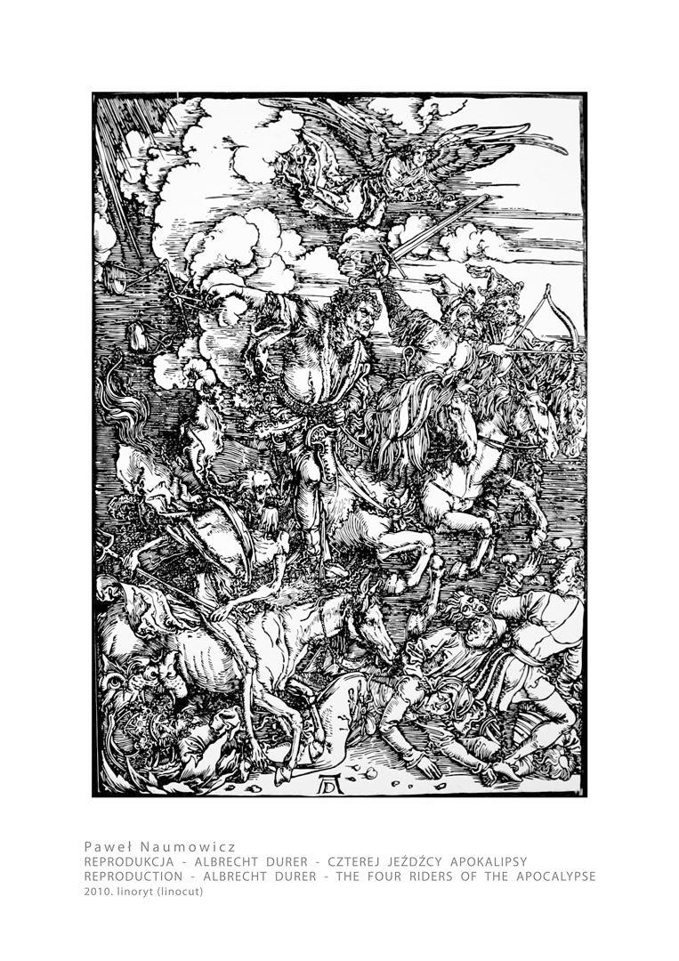 Reprodukcja - Albrecht Durer - Czterej Jeźdzcy Apo