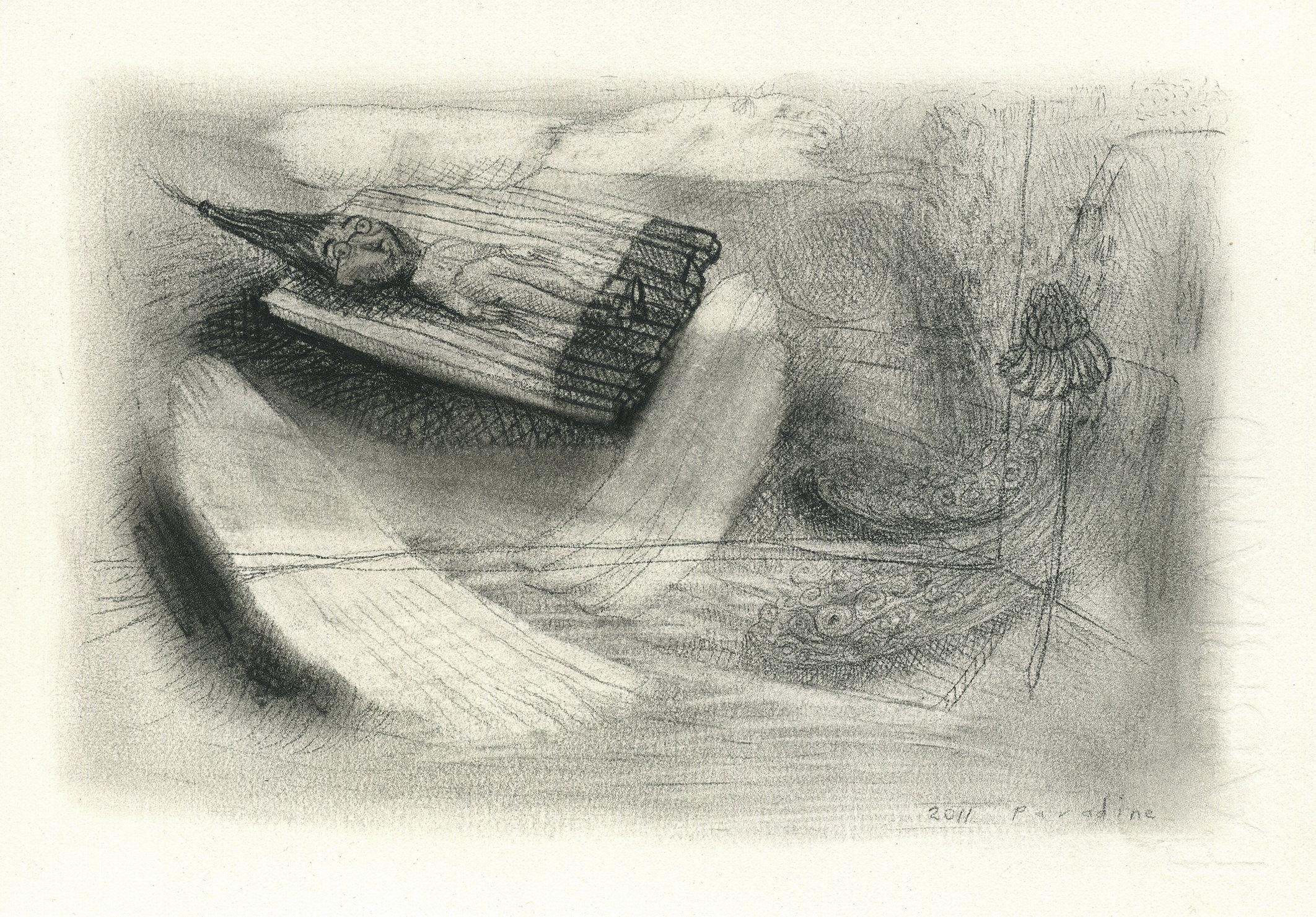 "8. ""Untitled"". Pastel, conte, & pencil on paper, 12x16cm, 2011"