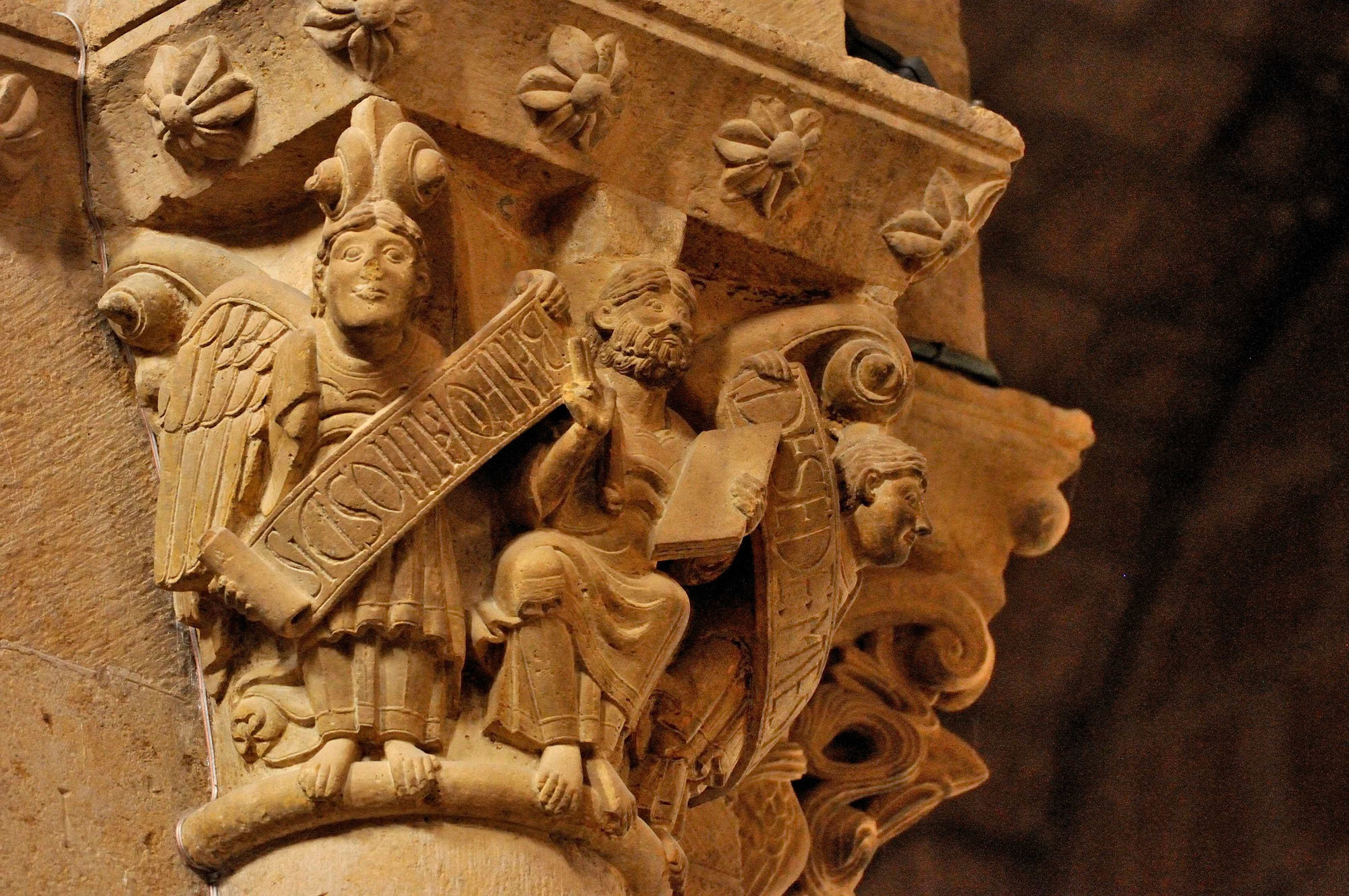 Chapiteau, basilique Sant Isidor, Leon, Castille