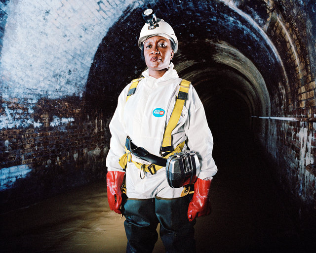 Lydia Zigomo, Head of East Africa Region, WaterAid. Fleet Sewer, London