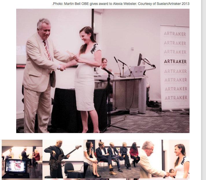 Artraker Awards Ceremony - Martin Bell OBE