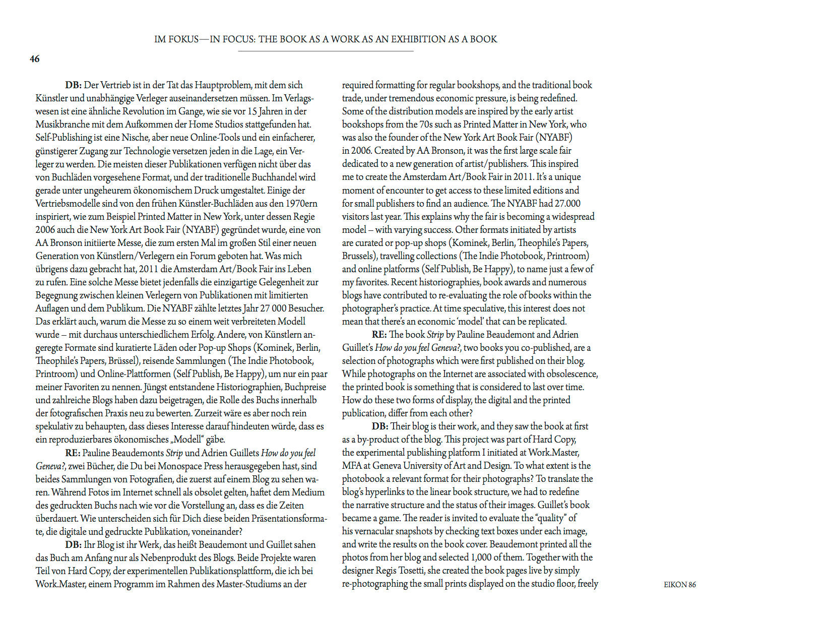EIKON MAGAZINE, N. 86, MAY 2014