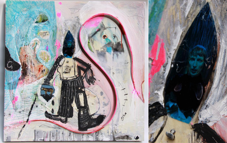 11. Ian Paradine Jake the Peg Mixed media on canvas.jpg