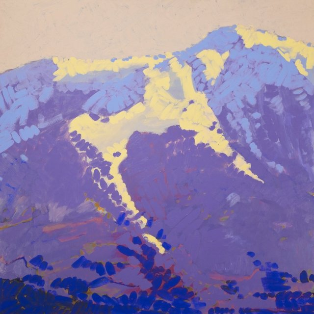 Mt Sopris, 2011, Acrylic on Masonite, 46 x 46 in.