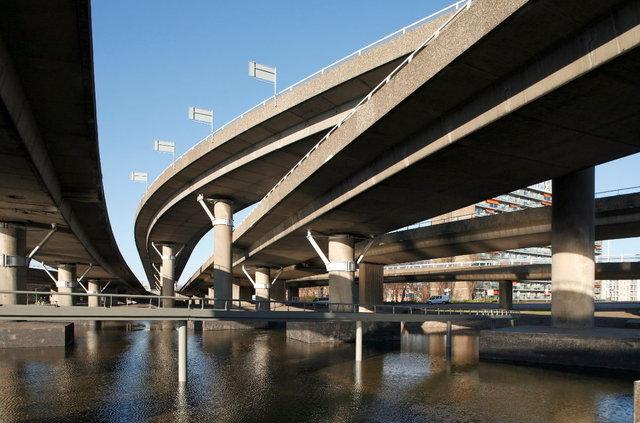 kleinpolderplein -  viaducten