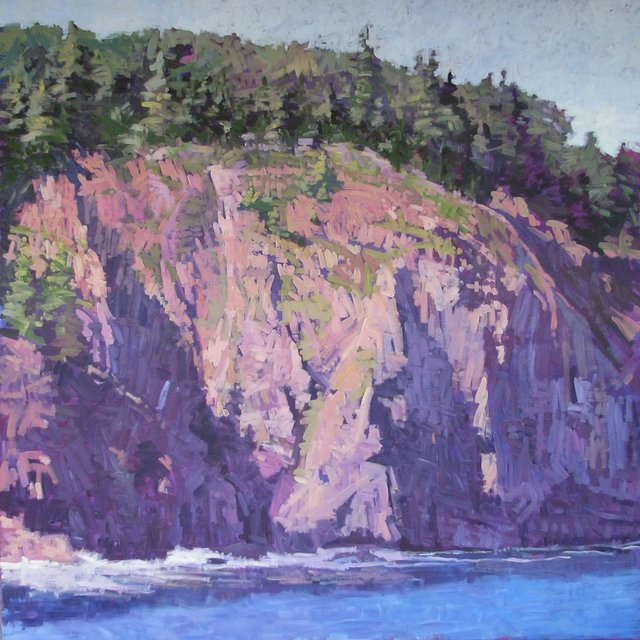 "Afternoon Bluff, Bald Porcupine Island, 2013, Acrylic on Canvas, 72"" x 72"""