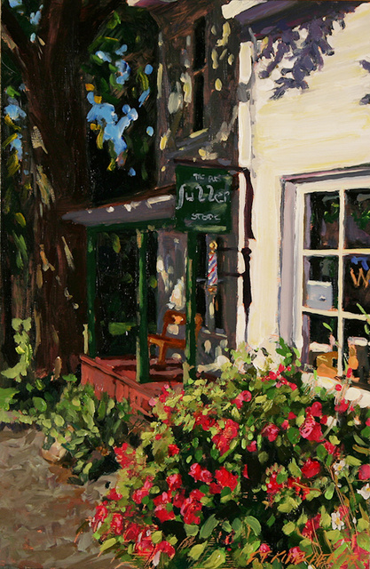 Island Shop, Morning, Fourth of July (Study)