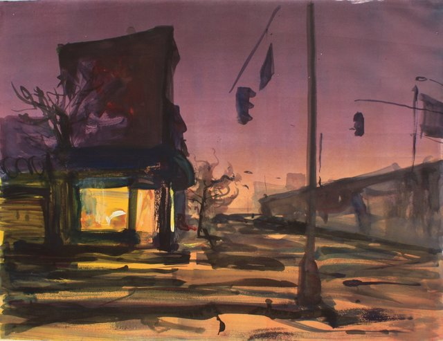 Down by the Expressway    22 x 29""